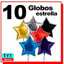 10 Globos Estrella 50 Cms-19 Pulg Fiestas Decoración Eventos