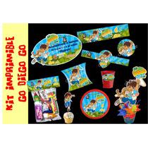 Kit Imprimible Go Diego Go Tarjetas Invitacion Candy Bar #1