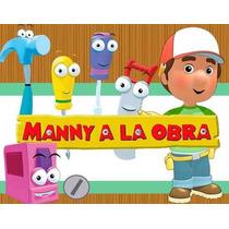 Kit Imprimible Manny A La Obra Diseñá Tarjetas , Cumples 2x1