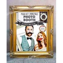 Kit Imprimible Photo Booth - Accesorios Para Bodas 2x1