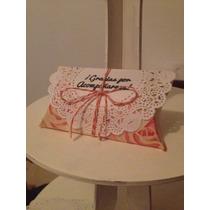 Caja Vintage Con Agradecimiento.recuerdo, Mesa De Dulce, Bod