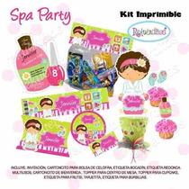 Fiesta Invitación Kit Imprimible Spa Party Niñas Tarjetas #3
