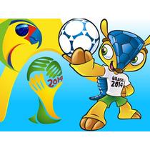 Kit Imprimible Mundial Brasil Diseñá Tarjetas Invitacion 2x1