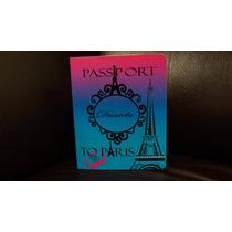 Invitaciones Personalizadas Tipo Pasaporte Xv Años