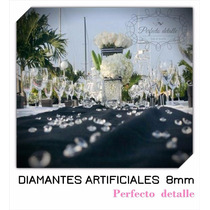 350 Diamantes Artificiales Acrilico 8 Mm Decoración De Mesas