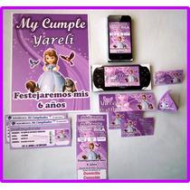 Invitaciones Kit Imprimible Princesa Sofia Hago D Cualquiera