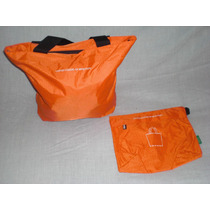 Bolsa Benetton Color Naranja Cosmetiquera De Regalo