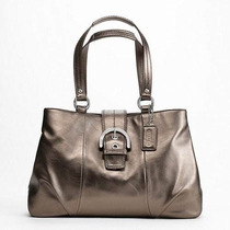 Coach Soho Leather Tote Silver/bronze F18751 Padrisima
