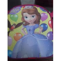 Lote 10 Mochilas Dulceros Princesa Sofia