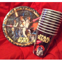 Fiesta Guerra Galaxias Star Wars Darth Vader Platos Bolsitas