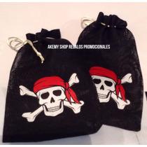 Piratas 10 Costalitos Para Dulces Articulos De Fiesta