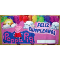 Lona Feliz Cumpleaños Peppa Pig. Todo Para Tu Fiesta