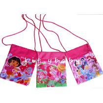 Bolsas Tipo Mariconeras De: Princesas, Dora Y Rosita Fresita