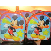 Lote 10 Mochilas Dulceros Mickey Mouse