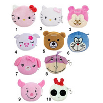 Lote De 10 Monederos Kitty Cartoon Animal Tipo Cartera Bolsa