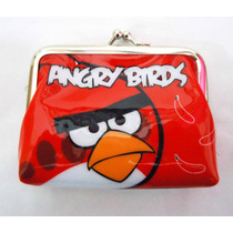 Monederos Angry Birds Anime Kawaii Videojuego Cartera Pluche