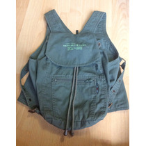 Increible Chaleco Bolsa Dkny Donna Karan New York Verde 100%
