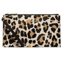 Bolso De Mano Michael Kors Haircalf Bedford Clutch Leopardo