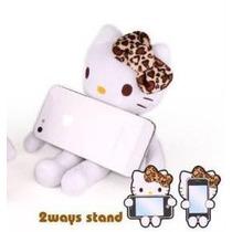 Hello Kitty Lindo Stand Para Celular Leopard Sanrio