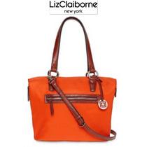 Bolsa Liz Claiborne Naranja Cafe Grande Cross Body Hermosa!!