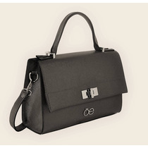 Bolsa Cloe Negra Con Diseño Estructurado