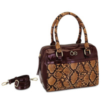 Bolsa Cloe Cafe Con Diseño Animal Print