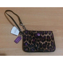 Bolsa Clutch Monedero Coach Animal Print 2015 Original!!