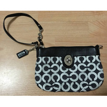 Hermosa Bolsa Clutch Cartera Coach Signature Piel Original!!