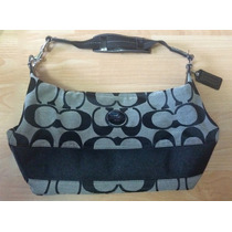 Bolsa Coach Shoulder Bag Negra Cob Gris 100% Original!!