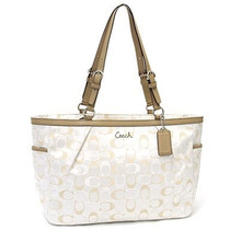 Bolsa Tote Hampton Coach F17698 Color Marfil