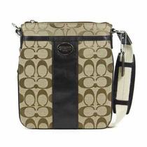 Bolsa Coach Firma Legado Y Swingpack Cuero En Color Caqui /