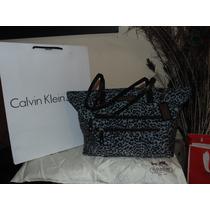 Bolsa Calvin Klein Print Con Llavero Inlcuye Bolsa De Tienda
