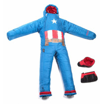 Selk Bag Sleeping Traje De Dormir Acampar Capitan America