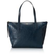 Bolsa Fossil Sydney Shopper Bolsa De Hombro Patrimonio Azul