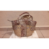 Bolsa Guess Original Color Beige Con Rosa, Nueva