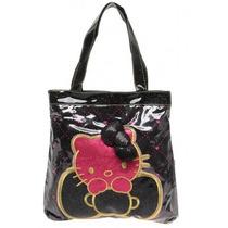 Bolsa Tote Hello Kitty Negra Importada