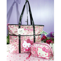 Hello Kitty Bolso Con Cosmetiquera