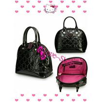 Bolsa Hello Kitty Negra Loungefly Charol