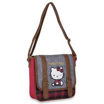 Hermosa Bolsa Tipo Cartero Hello Kitty Original Mezclilla