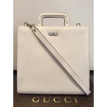 Bolsa Gucci Crossbody Mariconera Piel Blanca Original Remato