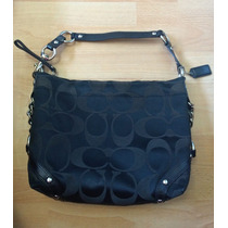 Bella Bolsa Coach Shoulder Bag Signature Negra 100% Original