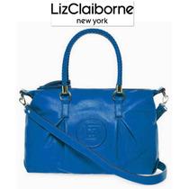 Bolsa Liz Claiborne Azul Crossbody Piel Faux Convertible Ve!