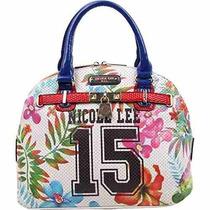 Bolsa Nicole Lee Numérico 15 Imprimir Satchel Bag Negro