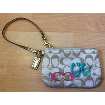 Bella Bolsa Cartera Clutch Coach Signature 100% Original!!