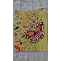 Bolsa De Regalo Figura De Mariposa En 3d Paquete De 12 Pzas