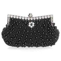 Bolsa Bmc Para Mujer Perlas De Imitación En Cascada Strass