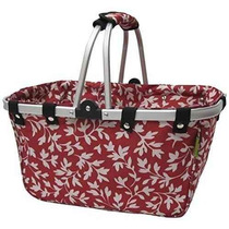 Bolsa Gran Aluminio Janetbasket Rojo Floral Marco Basket