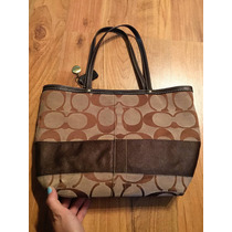 Bolsa Coach Tote Signature Cafe 100% Original!!