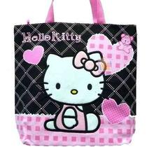 Bolsa Bolsa De Hello Kitty Negro Totalizador Del Corazón