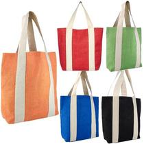 Bolsa De Yute Trendy! 5 Colores. Ecologica. Le Cabe Todo!
